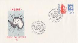 Norvège, FDC (carte De L'Antarctique) N° 585 (Amundsen) Obl Oslo Le 23/6/71 - Brieven En Documenten