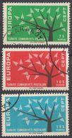 TURCHIA - 1962 - Serie Completa Di 3 Valori Usati: Yvert 1627/1629. - 1921-... Repubblica
