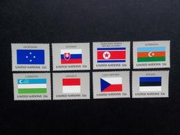UNO NEW YORK MI-NR. 756-763 ** 1998 FLAGGEN (XII) ESTLAND MONACO SLOWAKEI - Briefmarken