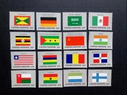 UNO NEW YORK MI-NR. 472-487 ** FLAGGEN 1985 DEUTSCHLAND FINNLAND INDIEN MEXIKO - Briefmarken