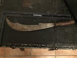 Ancien Sabres ,machette Ou épais à Identifié Poignée En Cornes De Cerfs - Armes Blanches