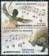 South Korea 2014. Philakorea 2014. Arirang (MNH OG) Block Of 2 Stamps - Korea, South