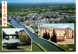 14230 ISIGNY-SUR-MER - Vue Aérienne, Le Port, L'Hôtel De Ville - Other Municipalities