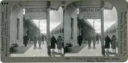 Palestine Israel ~ JERUSALEM ~ Train In Railway Station 336004 703x NEAR MINT - Stereoscoop