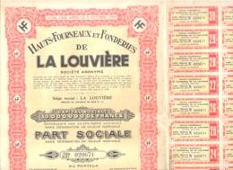 Action / Titre - Hauts Fourneaux Et Fonderies De LA LOUVIERE SA Avec 18 Coupons (b257) - Hist. Wertpapiere - Nonvaleurs