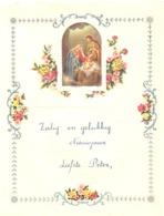 Lettre De Voeux Avec Découpis ( Noël, Crèche, Fleurs )  HOLSBEEK 1956  (b257) - Motif 'Noel'