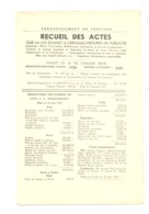 Arrondissement VERVIERS 1938 - Recueil Des Actes - Welkenraedt, Verviers, Ensival, Andrimont, Moresnet, Pepinster - Belgique