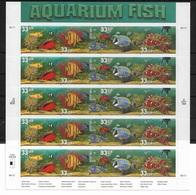 US 1999 Full Sheet Aquarium Fish, 20 Stamps 33c ,Scott # 3317-20, VF MNH** - Fishes