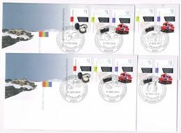 AUSTRALIAN ANTARCTIC TERRITORY (AAT) • 2017 • Cultural Heritage • Base Cancel Set Of 4 Covers - Unused Stamps