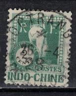 INDOCHINE            N°     YVERT         TAXE   34   OBLITERE       ( Ob  5/10 ) - Indochina (1889-1945)