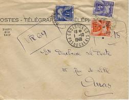 1948- Enveloppe Des P T T De Croisilles ( Pas De Calais ) TAXEE à 15 F  ( 2ème échelon  ) - Marcophilie (Lettres)