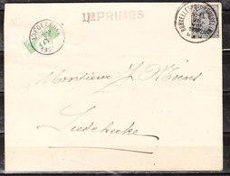 TX33  Demi-timbre Sur Lettre De Bruxelles Pour Liedekerke - LOOK!!!! - Taxes