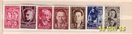 1951  Heros Antifascistes  Yvert- 669/75 7v.-MNH** BULGARIE / Bulgaria - 1945-59 Volksrepublik