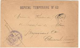 20965 - HOPITAL TEMPORAIRE  N° 68 - Storia Postale