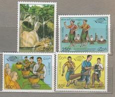 LAOS 1995 Tourism WTO Music Instruments Dance MNH (**) Mi 1438-1441 #24788 - Laos