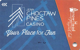 Jena Choctaw Pines Casino - Dry Prong, LA - Slot Card With P780811 - Casinokarten