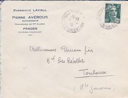 LETTRE--66---PRADES---Pierre AVEROUS Successeur--pharmacie LAVALL--voir 2 Scans - Marcophilie (Lettres)