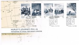 AUSTRALIAN ANTARCTIC TERRITORY (AAT) • 2016 • Hurley's Journey 1914-16  • First Day Cover (Set Of Stamps) - FDC