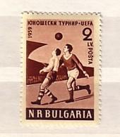 1959  FOOTBALL - UEFA  1 V.-MNH  BULGARIA / Bulgarie - 1945-59 Volksrepublik