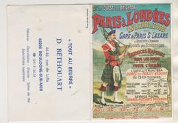 CALENDRIER TOUT AU BEURRE, BETHOUART BOULOGNE SUR MER, PARIS LONDRES GARE SAINT LAZARE, ECOSSAIS , ANNEE 1981 - A VOIR - Calendriers