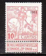 98**  Caritas Surchargé 1911 - Bonne Valeur - MNH** - COB 45 - Vendu à 13.50% Du COB!!!! - 1910-1911 Caritas