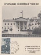 Carte  Maximum  1er  Jour    BRESIL    Président   John  KENNEDY   1965 - Kennedy (John F.)