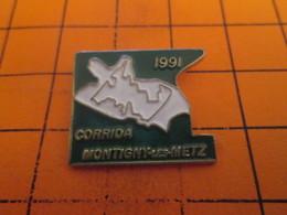 613F Pin's Pins / Rare Et  Belle Qualité !!! THEME : SPORTS / ATHLETISME CORRIDA DE MONTIGNY LES METZ - Athletics
