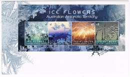 AUSTRALIAN ANTARCTIC TERRITORY (AAT) • 2016 • Ice Flowers - Miniature Sheet • First Day Cover - FDC