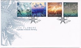 AUSTRALIAN ANTARCTIC TERRITORY (AAT) • 2016 • Ice Flowers - First Day Cover - Unused Stamps