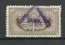 Lettland Latvia 1926 Eisenbahn Railway Tax 10 S. O - Lettland