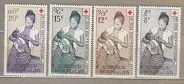 LAOS 1958 Airmail Red Cross MH (*) Mi 81-84 #24823 - Laos