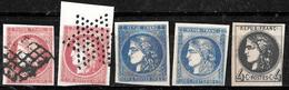 899 - FRANCE - 1850-70 - CERES  - FORGERIES - FAUX - FALSCHEN - FAKES - Briefmarken