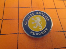 113D  Pin's Pins / Rare Et  Belle Qualité !!! THEME : AUTOMOBILES / PEUGEOT CERCLES QUALITE LIONDE SOCHAUX - Peugeot