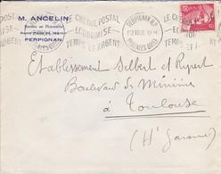 LETTRE--66---PERPIGNAN---1948--M. ANCELIN--Docteur En Pharmacie Rond Point Saint-martin--voir 2 Scans - Marcophilie (Lettres)