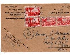 MAROC AFFRANCHISSEMENT COMPOSE SUR LETTRE A EN TETE POUR LA FRANCE 1960 - Marocco (1956-...)