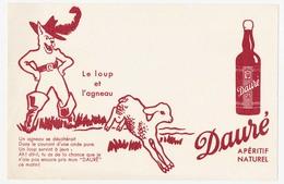 Buvard 19.9 X 12.9 Apéritif Naturel DAURE  Le Loup Et L'agneau - Liqueur & Bière