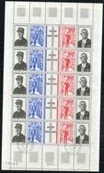 FRANCE   Anniversaire De La Mort Du Général De Gaulle   Feuille   N° Y&T  1698A  ** - Unused Stamps