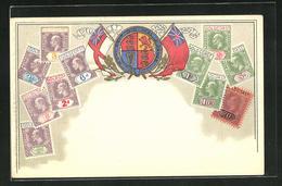 Präge-Lithographie Briefmarken Et Armoiries Von Ghana / Gold Coast - Ghana - Gold Coast