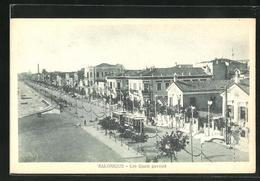 AK Salonique / Saloniki, Les Quais Pavoisé, Strassenbahn - Griechenland