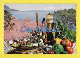 CPSM Recette Cuisine - La SALADE NIÇOISE - Recipes (cooking)