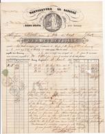 Lettre 1855 Bourg Argental Loire Manufacture De Papier Bechetoille Crest Drôme - 1853-1860 Napoleon III