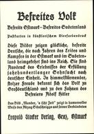 Cp Befreites Volk, Künstlerische Ansichtskarten, Ostmark, Sudetenland, Anschluss - Other