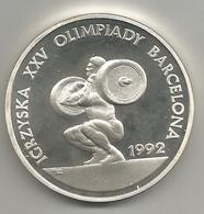 Polonia, 1991, 200.000 Zloti Argento Fondo Specchio, Giochi Olimpici Di Barcellona 1994. - Polonia