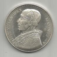 Vaticano, Papa Pio XII, Corona Aurea Super Caput Eius, Ag. Gr. 16, Mm. 35. - Gettoni E Medaglie