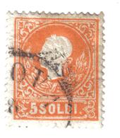 LOMBARDO VENETO EFFIGE DI FRANCESCO GIUSEPPE 5 SOLDI II° TIPO USATO COD FRA.019 - Lombardo-Veneto