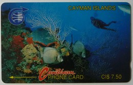 CAYMAN ISLANDS - GPT - CAY-2A - Underwater - Diver - 2CCIA - $7.50 - Used - Kaimaninseln (Cayman I.)