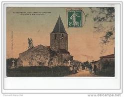 PUYNORMAND Près LUSSAC DE LIBOURNE - L'église Et La Rue Principale - Très Bon état - France