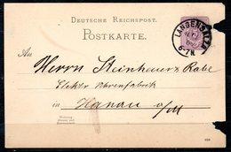 ALLEMAGNE. Carte Pré-timbrée Du N°37 Ayant Circulé En 1889. Oblitération : Bad Langensalza. - Briefe U. Dokumente