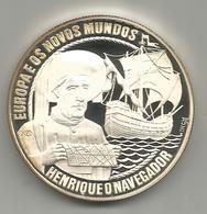 Portogallo, 1991, 25 Ecù, Enrico Il Navigatore, Argento Fondo Specchio. - Portogallo