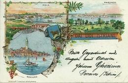 Lidi Istriani (Croazia), Pola, Parenzo E Rovigno, Riproduzione D01, Reproduction, Illustrazione - Croazia